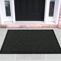 """Loop Carpet Rubber Backed Entrance Scraper Door mat (18"""" x 30"""", Charcoal) Entrance Rug Indoor/Outdoor Doormat, Shoe Scraper Entryway,Garage and Laundry room Floor Mat, Weather-Resistant"""