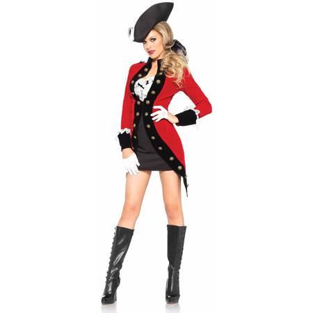 Rebel Alliance Costume (Leg Avenue Women's Rebel Red Coat Colonial)