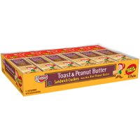 Keebler Toast & Peanut Butter Sandwich Crackers, 1.8 Oz., 8 Count, 12 Pack