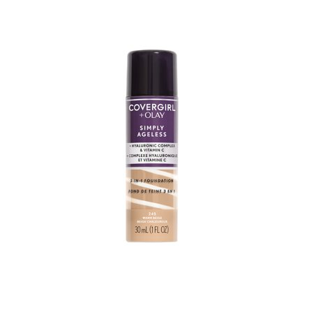 COVERGIRL + OLAY Simply Ageless 3-in-1 Liquid Foundation, 245 Warm -