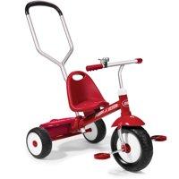 Radio Flyer Deluxe Steer & Stroll Trike, Red