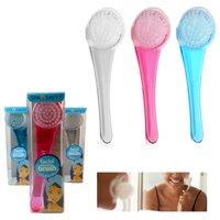 1 Facial Brush Transparent Cleaning Soft Bristle Scrub Face Exfoliating Scrubber