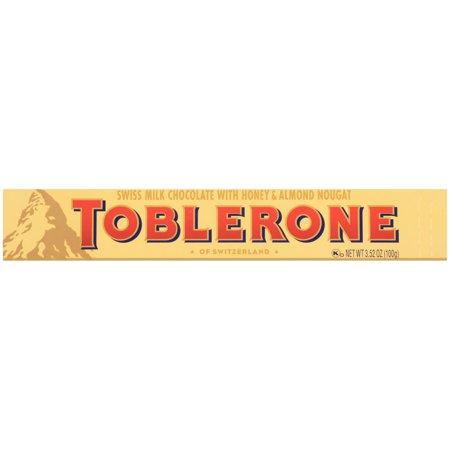 Toblerone Swiss Milk Chocolate Bars, 3.5 Oz. (Justin Mens Chocolate)
