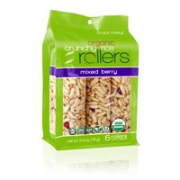 (3 Pack) Crunchy Rice Rollers, Mixed Berry, 6 Ct