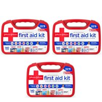 3 Pk Johnson & Johnson All Purpose First Aid Kit Emergency Survival Gear 140 Pc