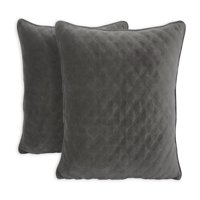 "Better Homes & Gardens Quilted Velvet Decorative Throw Pillow, 19"" x 19"", 2 Pack, Vanilla Dream"
