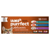 IAMS PURRFECT DELICACIES Premier Flaked Mackerel & Whitefish Canned Cat Food 2.47 oz. (Pack of 12)