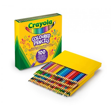 12 Piece Colored Pencils - Crayola Classic Bulk-Size Colored Pencils,100 Count
