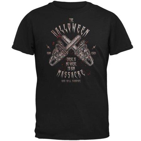 Halloween Chainsaw Massacre Bloody Horror Mens T Shirt - Halloween Massacre Toronto