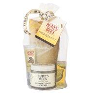 Burt's Bees Hand Repair Gift Set, 3 Hand Creams plus Gloves - Almond Milk Hand Cream, Lemon Butter Cuticle Cream, Shea Butter Hand Repair Cream