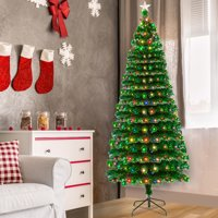 "Zimtown Artificial Christmas Tree 7.5 FT ""Feel Real"" with 260 LED Lamps & 260 Branches"