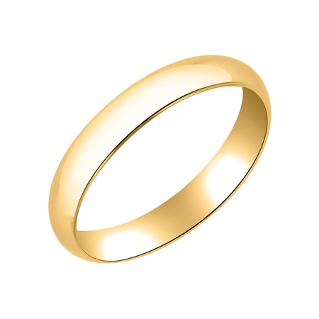 4mm Solid Gold Wedding Band (Traditional 4MM 10K Yellow Gold Hollow Band – Wedding Ring for Men &)