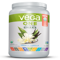 Vega One Organic All in One Shake, French Vanilla 24.3 oz, 18 servings