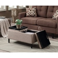 Convenience Concepts Designs4Comfort Magnolia Storage Ottoman with Trays