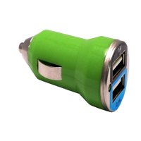 EpicDealz Dual USB Car Charger 3.1Amp 15.5W - 1.0&2.1A Smart Power Supply For HTC G1 (T-Mobile) - Compact Green