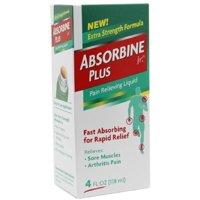 Absorbine Jr. Plus Pain Relieving Liquid 4 oz (Pack of 3)
