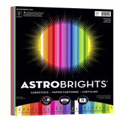 Astrobrights Colored Cardstock, 8.5 x 11, 65 lb., Spectrum Assort., 75 Shts
