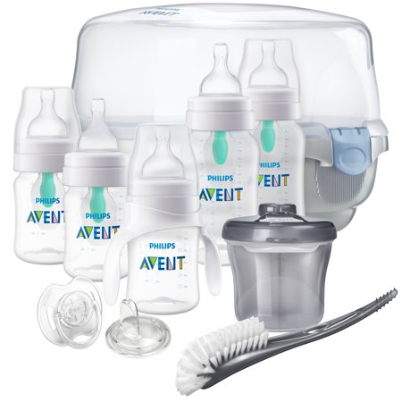 Philips Avent Anti-colic Baby Bottle with AirFree vent Gift Set Essentials, (Best Philips Avent 125s)