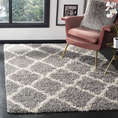 Safavieh Daley Geometric Plush Shag Area Rug or Runner 8' Runner Transitions Runner