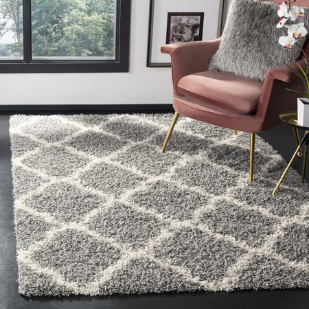 Safavieh Daley Geometric Plush Shag Area Rug or Runner - Grape Round Rug