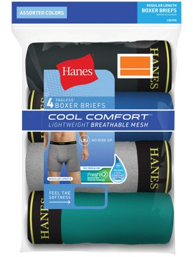 Mens Cool Comfort Lightweight Boxer Brief, 4 Pack