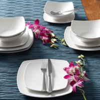 Gibson Home Everyday Square 12-Piece Dinnerware Set