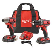 Milwaukee Electric Tools 2691-22 2 Piece M18 Compact Lithium Ion Drill/driver And Impact Wrench Combo Kit