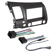 car stereo radio dash installation mounting kit+ wiring harness + radio  antenna adapter for select honda