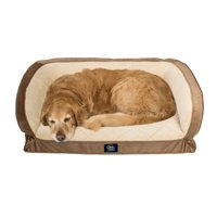 Serta Orthopedic Gel Memory Foam Quilted Couch Pet Bed, Large, Color May Vary