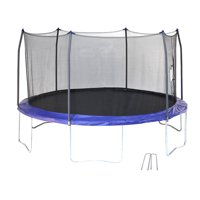 Skywalker Trampolines 14-Foot Trampoline, with Wind Stakes, Blue