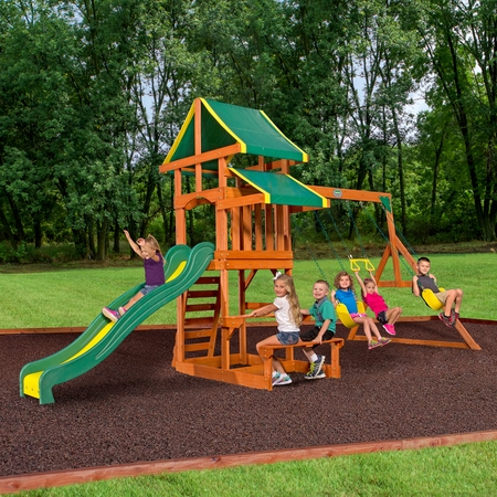 Backyard Discovery Tucson Cedar Wooden Swing - Playground Swing Set Toys