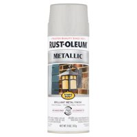Rust-Oleum Stops Rust Silver Metallic Paint, 11 oz
