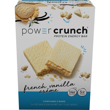 Power Crunch Protein Energy Bar, French Vanilla Cream, 14g Protein, 5