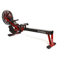 Stamina X Portable Air Rower with Steel Frame and Molded Seat
