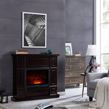 Bold Flame 43 31 Inch Electric Fireplace Heater In Dark Chocolate