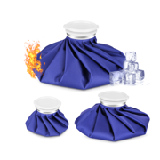 """Set of 3 Fitnate 6""""/9""""/11"""" Ice Bag, Hot & Cold Therapy Reusable for Injuries Pain Relief"""