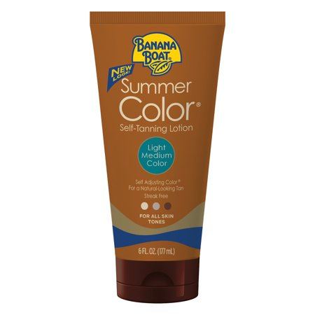 Banana Boat Summer Color Self-Tanning Lotion, Light/Medium, 6 (Best Smelling Gradual Self Tanner)