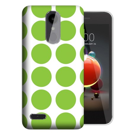 MUNDAZE LG Aristo 3 / 2 / Tribute Dynasty / Zone 4 Green Polkadots Design TPU Gel Phone Case Cover