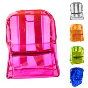 Heepo Women Transparent Adult Kids Clear Backpack Student Sports School  Travel Bags 148b62afce2e4