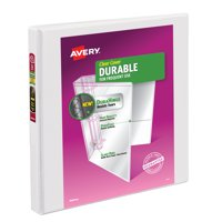 """Avery 0.5"""" Durable View Binder, Slant Ring, White, 120 Sheets"""