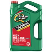 (3 Pack) Quaker State Defy High Mileage 5W-20 Synthetic Blend Motor Oil, 5 qt.