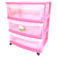 Mainstays 3 Drawer Wide Cart