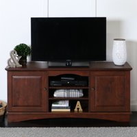 "Walker Edison Brown TV Stand for TVs up to 65"", Multiple Colors"