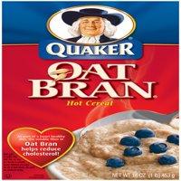 Quaker Oat Bran Hot Cereal, 16 oz Box