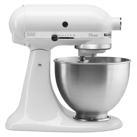 KitchenAid Classic Series 4.5 Quart Tilt-Head White Stand (Best Dough Mixer For Roti)