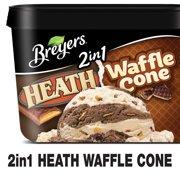 Breyers Frozen Dairy Dessert 2in1 HEATH Waffle Cone 1.5 QT