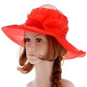 f00042eb9a7 Womens Sun Hat-Fitbest Women Sun Hat Organza Kentucky Derby Fascinator Lady  Cocktail Tea Party