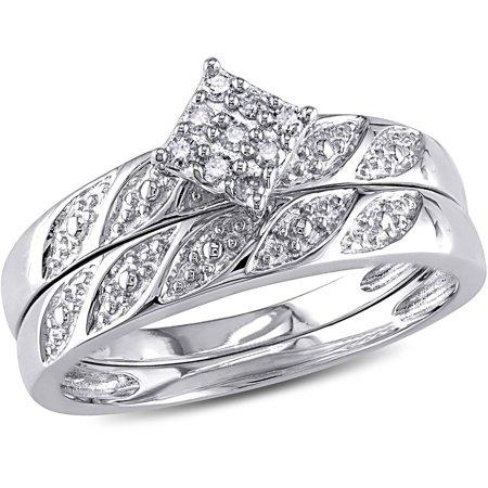 Diamond-Accent Sterling Silver Bridal Ring (Diamond Accent Bridal Set)