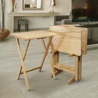 5pcs Tray Table Set-Natural