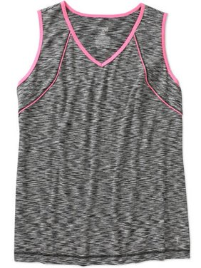 Danskin Now Women's Plus-Size Performance Tank with Piping Detail